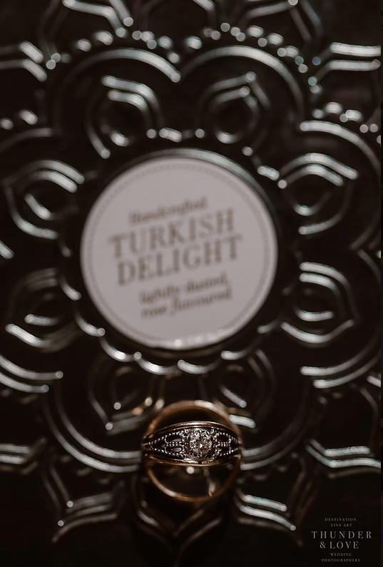 Turkish delight wedding band